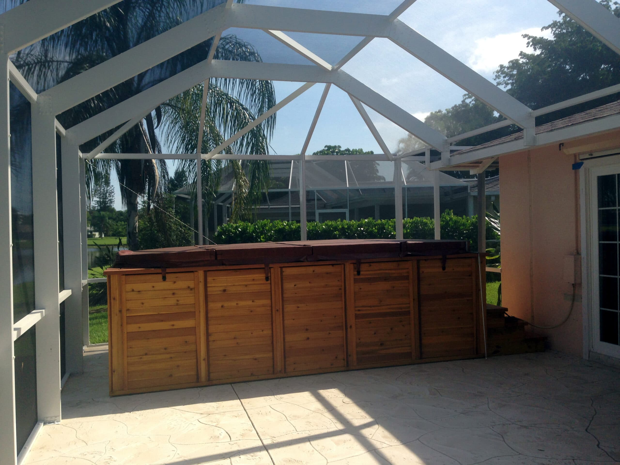 Hot Tub Patio Enclosure In Naples Area - FL Screens